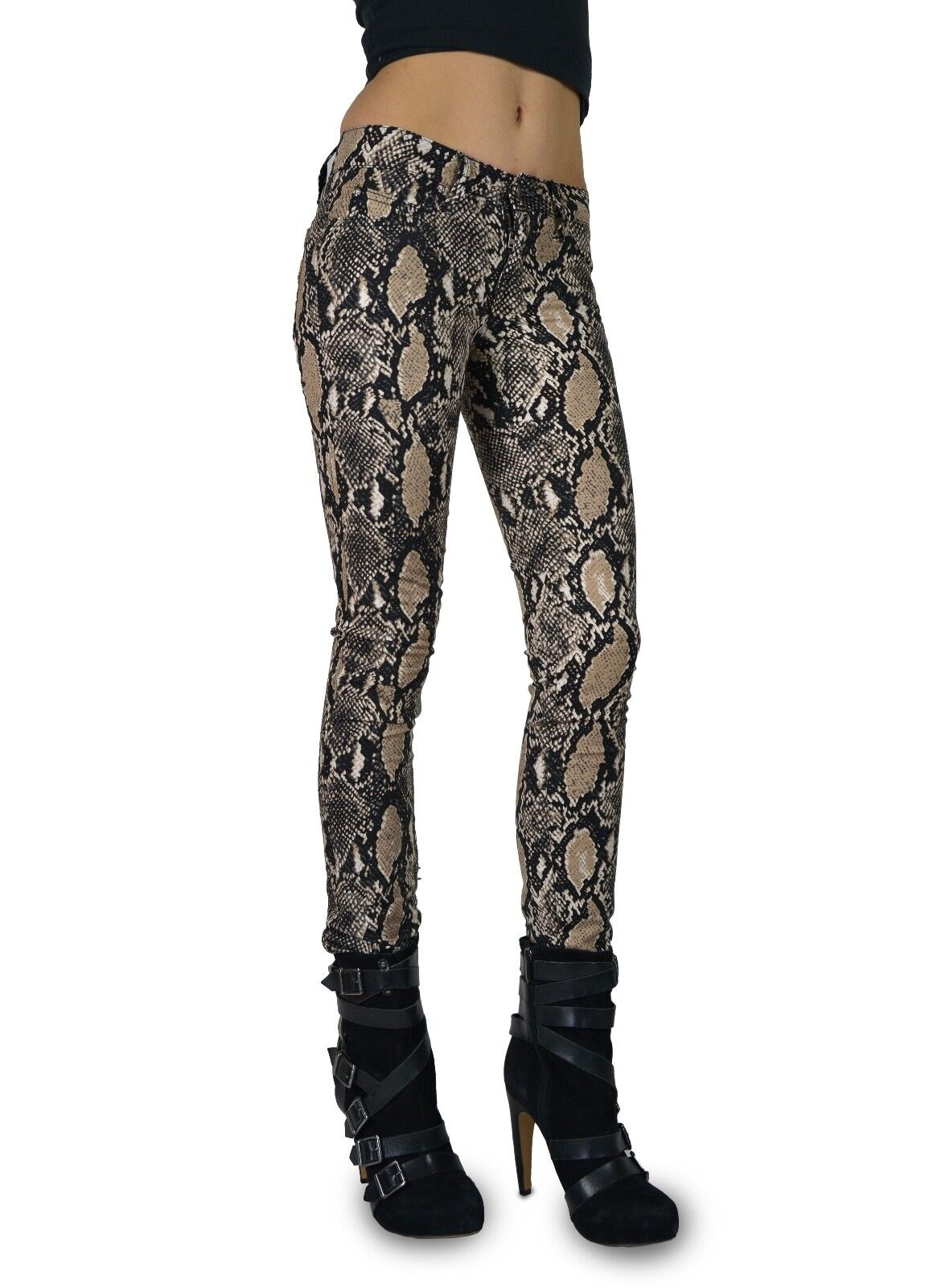 TRIPP EMO GOTH PUNK ROCK STAR NATURAL PYTHON SNAKE PRINTED T-JEAN PANTS IS6235P Clothing, Shoes & Accessories