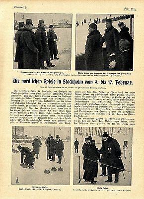 Nordische Spiele in Stockholm Kronprinz Gustav König Oskar Fr.Szabo G.Euler 1901