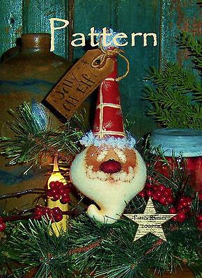 Primitive Patti's Ratties Christmas Santa Claus Doll Ornie Paper Pattern #537