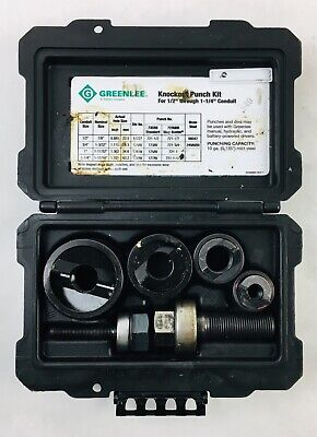 Greenlee Knockout Punch Kit - 735bb - 12 34 1 1 14 - Case Included