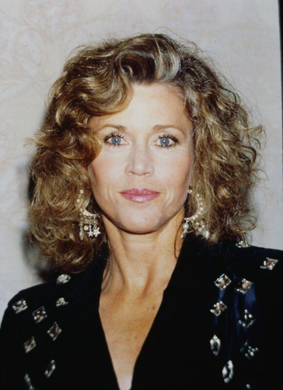JANE FONDA - US Actress - Original 35mm COLOR PORTRAIT Slide - 1990