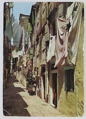 POSTCARD GREECE. KANTOUNIA, CORFU OLD TOWN. POSTED 1969