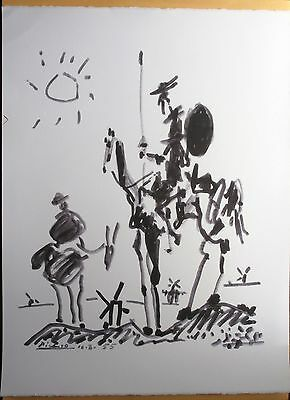PABLO PICASSO DON QUIXOTE SIGNED AND DATED ORIGINAL FRENCH LITHOGRAPH 56x38  COA for sale  Shipping to Ireland