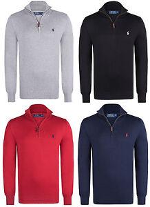 New-Half-Zip-Polo-Ralph-Lauren-Mock-Neck-Jersey-Pullovers