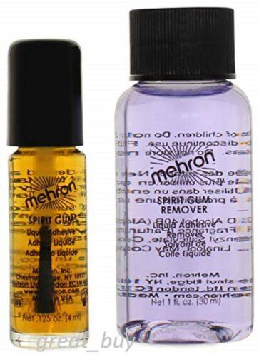 MEHRON SPIRIT GUM ADHESIVE/REMOVER SET ADHESIVE_SPECIAL EFFECT GLUE_MAKE UP KIT.