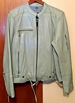 Harley-Davidson Mint Green Leather Jacket Large Womens RN103819 CA03402 for sale  Shipping to India