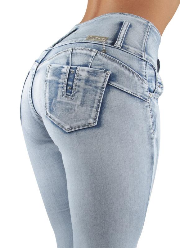 Womens Plus / Juniors Size Colombian Design Butt Lift  High Waist Skinny Jeans