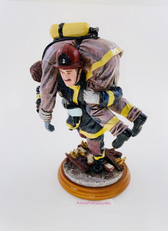Vtg 1999 Red Hats Of Courage Firefighter Figurine Hero III #6/1035 tinietreasure