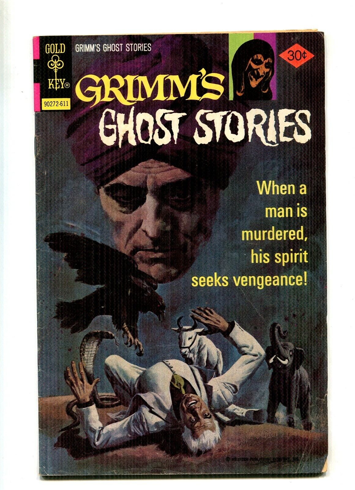 Grimm s Ghost Stories 35 Bronze Age Gold Key Horror 1976  - $0.99