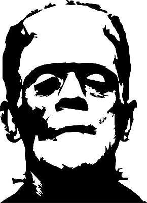 Frankenstein, Boris Karlov, Horror  Wandtattoo , Folienschnitt
