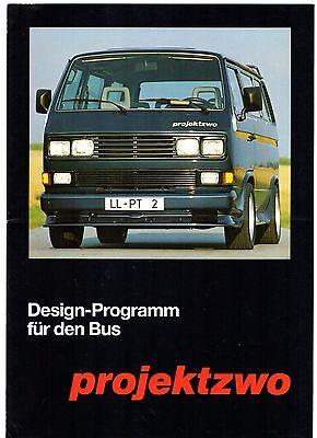 Volkswagen Transporter Bus Projektzwo Bodystyling 1989-90 German Sales Brochure