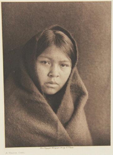 2 Edward S Curtis Photogravure Plates – Haida Girl & Tsahwismia - Nootka