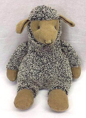 "Russ Berrie Chester Sheep Lamb 10"" Plush Gray Brown Tan Corduroy Stuffed Animal"