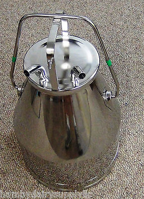 Stainless Steel Fresh Cow Catch Bucket Treated Cow Pail 58 Hose Size