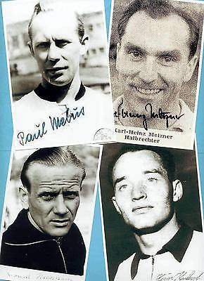 Mebus - Metzner - Hermann - Kubsch - WM 1954 - 4 AK Bilder + 2 AK Fotos gratis