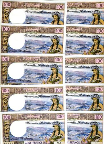 LOT, New Hebrides, 10 x 100 Francs, ND (1970 - 1977), P-18d, UNC