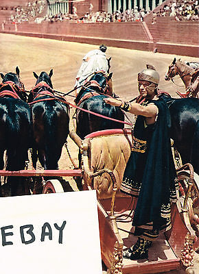 BEN-HUR 1959 MOVIE PHOTO NEW! MESSALA STEPHEN BOYD ANCIENT ROME CHARIOT RACE