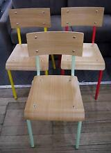 New Vintage Skinner Metal Retro Timber School Dining Chairs Melbourne CBD Melbourne City Preview