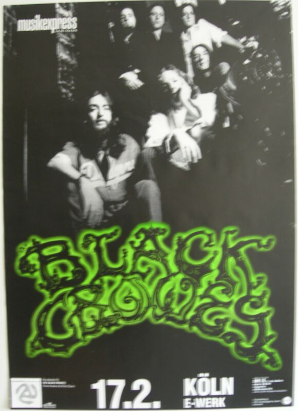 BLACK CROWES CONCERT POSTER 1997 THREE SNAKES AND ONE CHARM