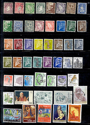 IRELAND 93 Different Stamps Lot Used