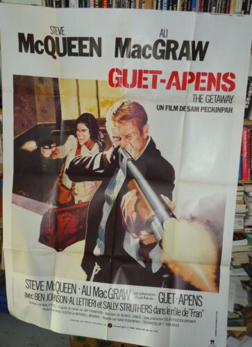 SAM PECKINPAH+STEVE McQUEEN/ THE GETAWAY// U26/  FRENCH POSTER
