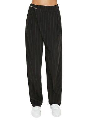 Danielle Guizio Black Striped Safety Pin Trouser Size XS