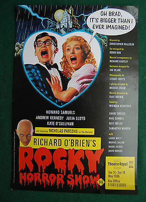 The Rocky Horror Show Theatre Poster - Vintage 1996 UK Tour