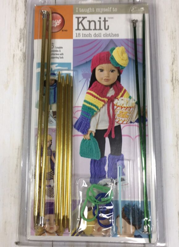 """BOYE """"I Taught Myself to Knit"""" Kit for 18 inch Doll Clothes"""