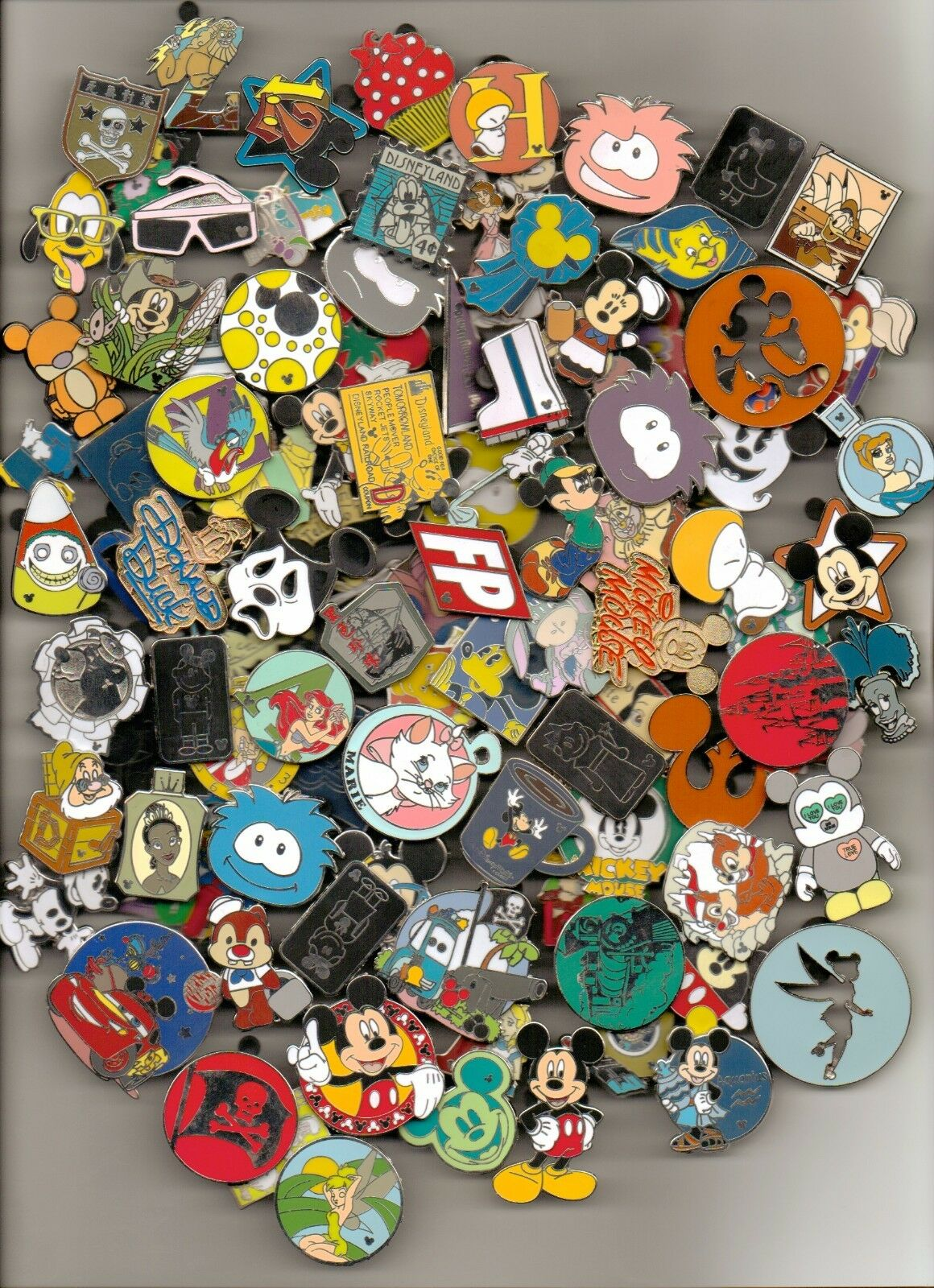 Disney Trading Pin 25 lot HM-RACK-LE-CAST no duplicates Fastest Shipper in USA
