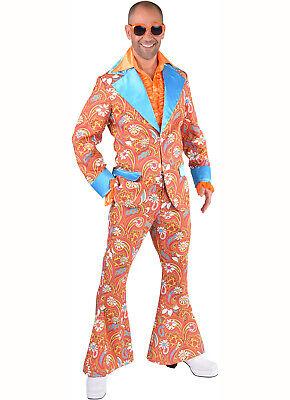 Deluxe  Pimp Suit - Orange Paisley , XS - XXL
