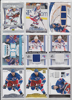 Ryan Callahan Brian Boyle Anton Stralman 54 Card Lot Certified Prime Dominion