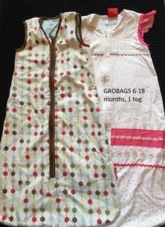 Baby gro bag & plum sleeping bags