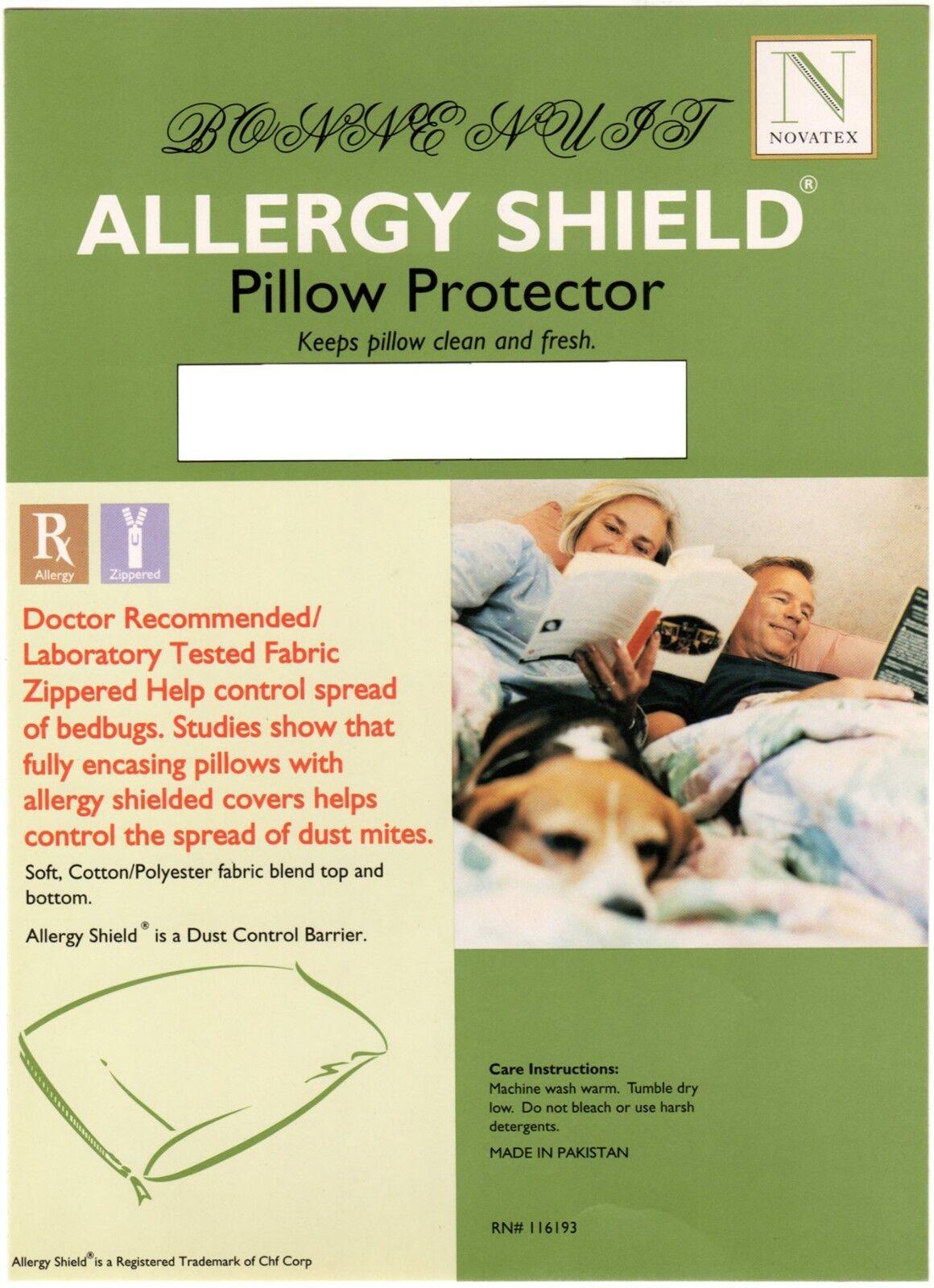 Set of 2 Terry Laminated Hypoallergenic Allergy Control Zipp