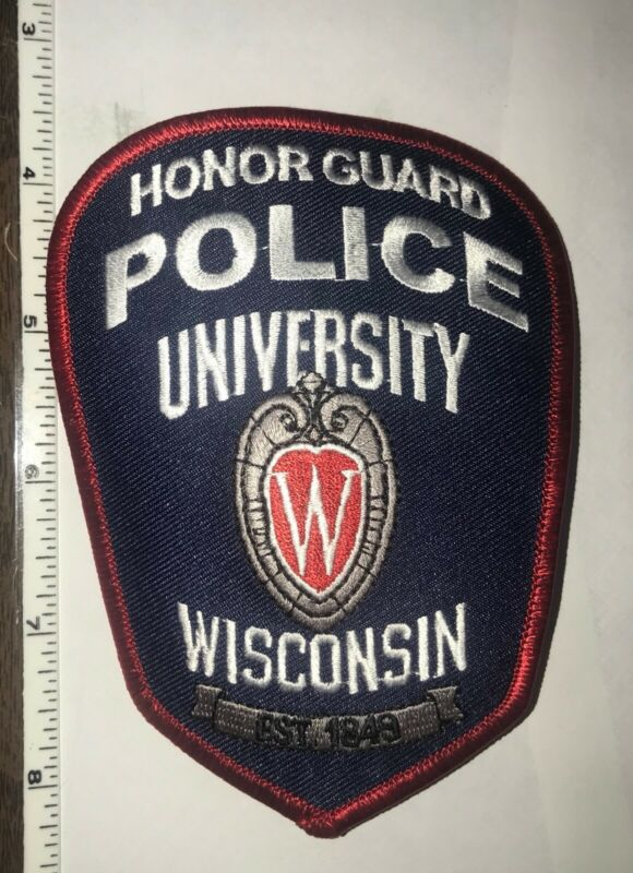 University of Wisconsin Police Honor Guard Shoulder Patch New