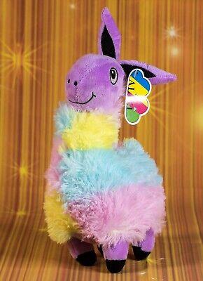 Lama-Alpaca 25 cm, Lama Pinata Stil, Regenbogenfarben (Plüsch-lama)