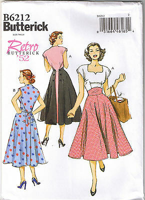 Vintage 50s Retro Rockabilly Back Wrap Dress Sewing Pattern Plus 14 16 18 20 22