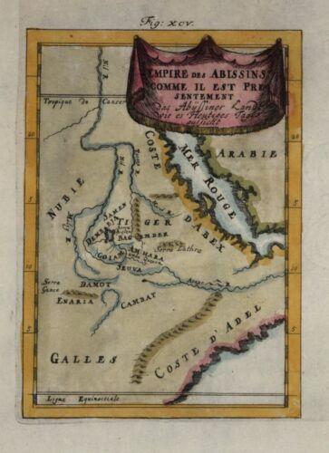 ETHIOPIA - EMPIRE DES ABISSINS BY MALLET, 1683.