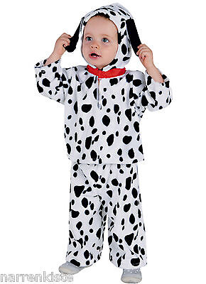 Dalmatiner Hund Hundekostüm Welpe Bernhardiner Kostüm Overall Kinder Baby Dog (Dalmatiner Kostüm Kostüm)