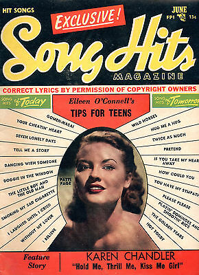 June 1953 Song Hits Magazine Patti Page Cover