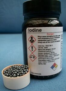 50g iodine crystals: 99.9% high purity, PHARMACEUTICAL grade