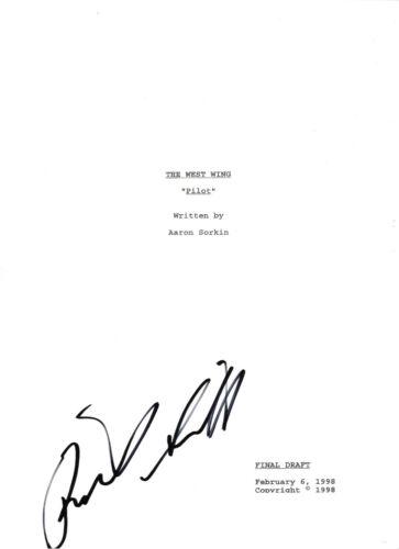 RICHARD SCHIFF SIGNED 'THE WEST WING' TOBY FULL PILOT EPISODE SCRIPT w/COA