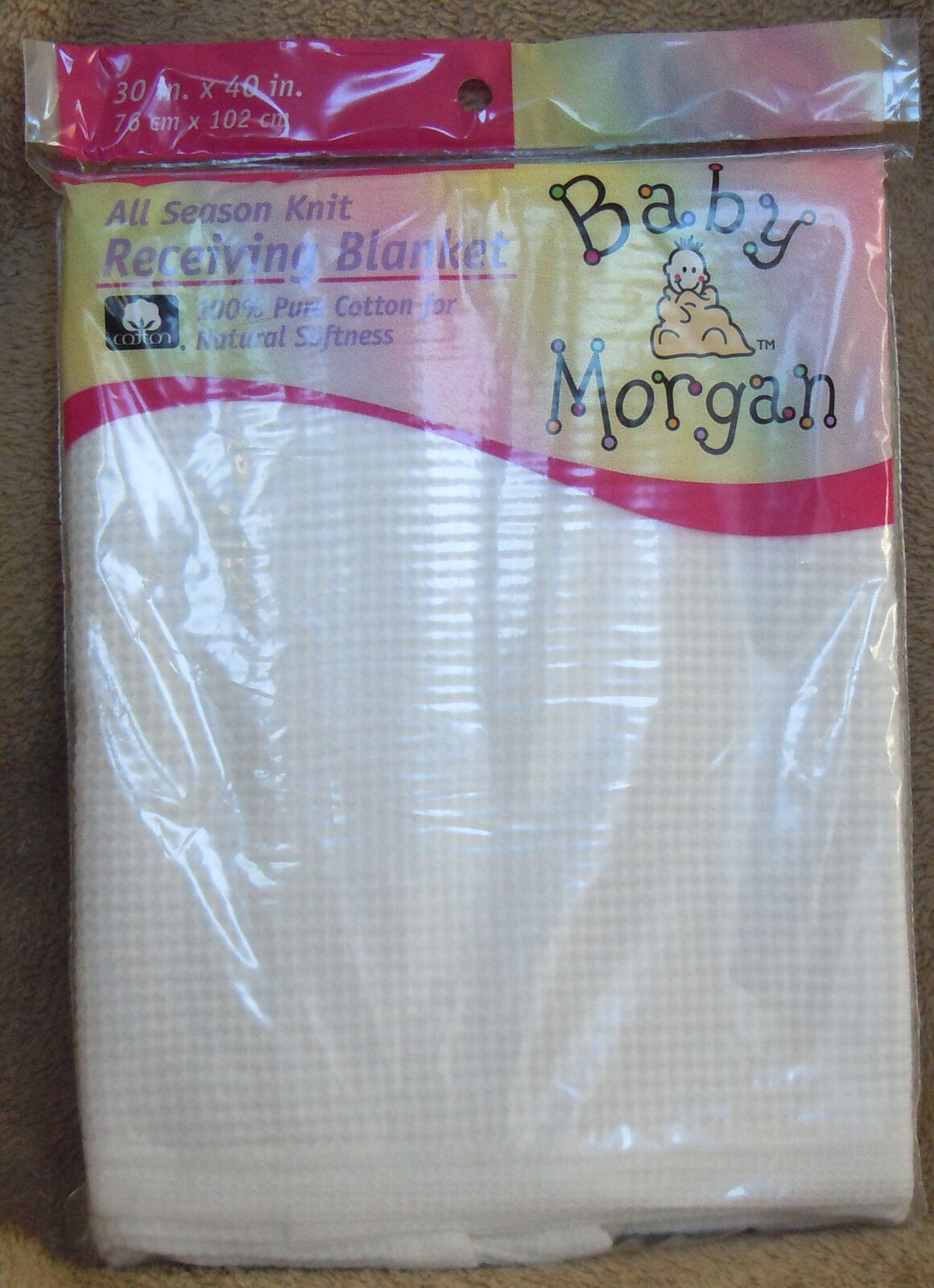 Baby Morgan White Receiving Blanket