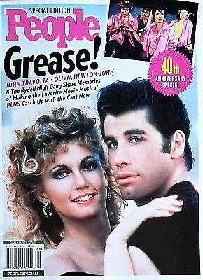 Grease Olivia Newton John Travolta 40Th Anniversary People Magazine 2018 New