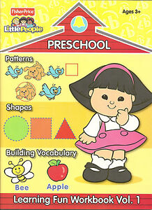 Fisher-Price Little People: PRESCHOOL Learning Workbook Vol.1    BRAND NEW!