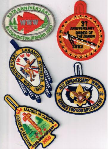 OA Group Of 11 Original NOAC Patches 1950-71
