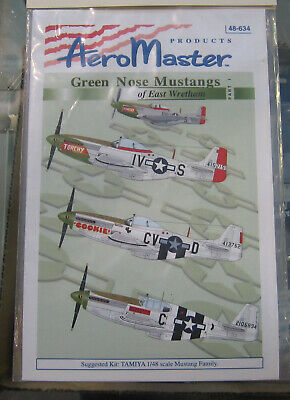 Aeromaster 48-634 Green Nose Mustangs of East Wretham Pt.I Decal Sheet