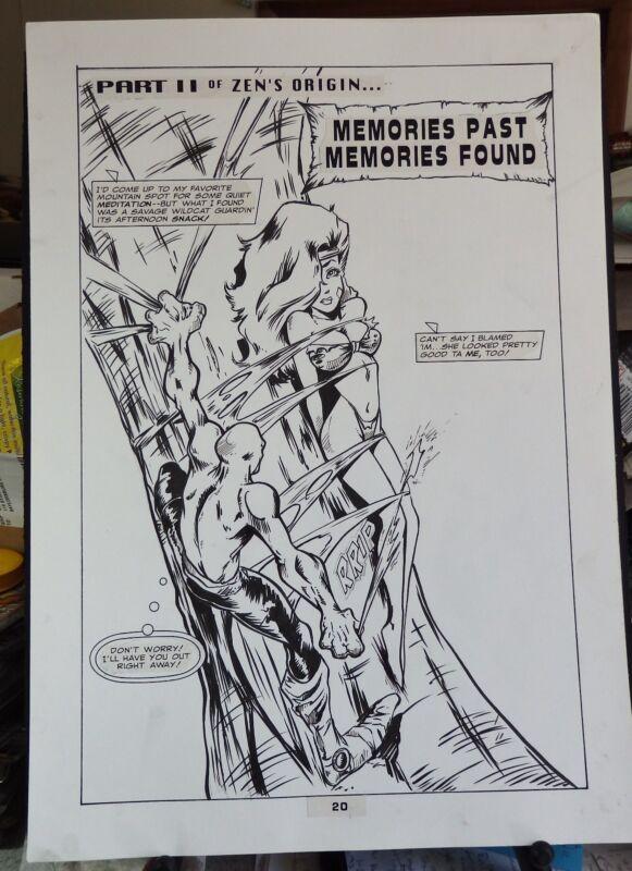 ZEN INTERGALACTIC NINJA #2 5-PAGE BACK-UP STORY 1993 ORIGINAL ART-MAUS-YOUNG ZEN