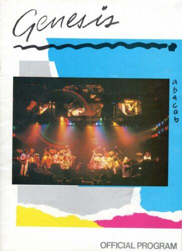 GENESIS 1981 ABACAB US TOUR CONCERT PROGRAM BOOK BOOKLET PHIL COLLINS VG TO EXC