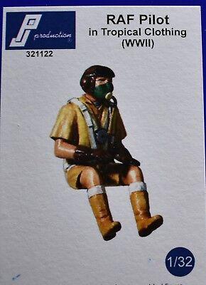 1/32 British Empire Tropical WW2 pilot PJ Production resin Spitfire Hurricane, used for sale  Pocatello