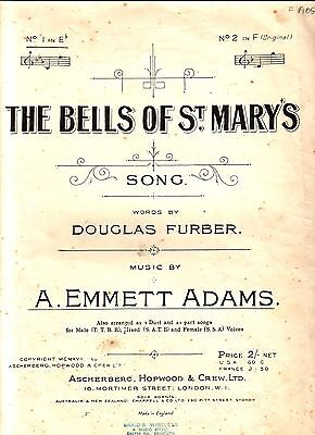 The Bells Of St Marys Words By Douglas Furber Music By A Emmett Adams Vvgc